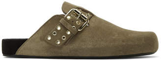 Isabel Marant Taupe Mirvin Slippers