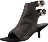 Giuseppe Zanotti Ankle-Wrap Kitten-Heel Thong Sandal, Black
