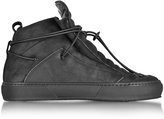 Ylati Ulisse Black Nabuk High Top Sneaker