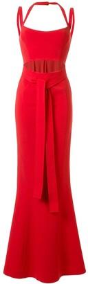Rachel Gilbert Frankie fishtail hem gown