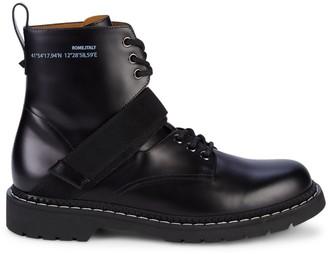 Valentino Coordinates Leather Combat Boots
