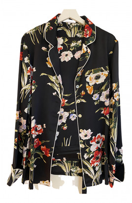 Olivia von Halle Multicolour Silk Jumpsuits