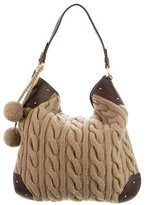 Bally Cable Knit Daybelle Hobo