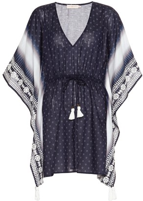 Tory Burch Ravena printed cotton-voile kaftan