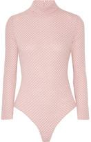 Emilia Wickstead Charlie Honeycomb-knit Wool Turtleneck Bodysuit - Pink