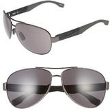 BOSS Men's 65Mm Aviator Sunglasses - Grey Black/ Grey