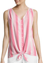 Liz Claiborne Tie-Front Tank Top - Tall