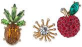ABS by Allen Schwartz Gold-Tone 3-Pc. Set Crystal Pins