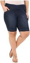 Jag Jeans Plus Size Ainsley Bermuda in Anchor Blue Comfort Denim
