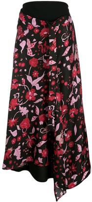 Ellery Shock Waves draped skirt