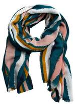 Violeta BY MANGO Multicolor striped scarf