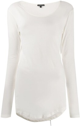 Ann Demeulemeester Cut-Out Draped Back Top
