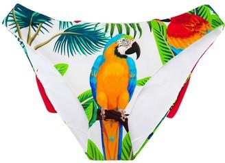Mc2 Saint Barth Kids Parrot Print Bikini Bottoms