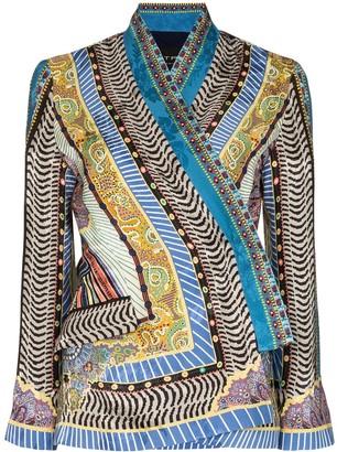 Etro printed kimono sleeve blouse