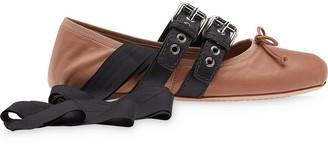Miu Miu Belted Ballerina Shoes