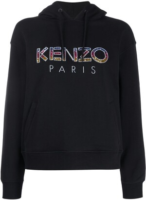 Kenzo Embellished-Logo Hooded Sweatshirt
