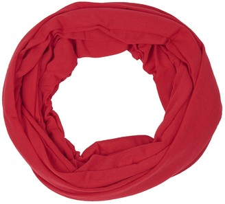 HeyJewels Women's Cotton Loop Scarf Solid Color Red