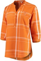 Unbranded Women's Tennessee Orange Tennessee Volunteers Missy Cotton Plaid Tunic Shirt