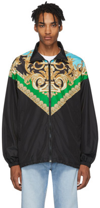 Versace Green and Blue Barocco Track Jacket