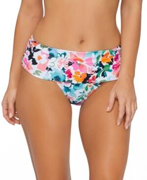 Island Escape Swimwear Honey Bloom Printed Bikini Bottoms, Created for Macy's Women's Swimsuit
