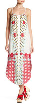 Red Carter Embroidered Cover-Up Dress