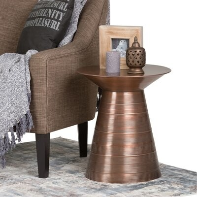 Thumbnail for your product : World Menagerie Celso Metal End Table