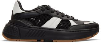 Bottega Veneta Black and White Speedster Sneakers