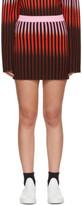 Opening Ceremony Multicolor Dip Dye Striped Miniskirt