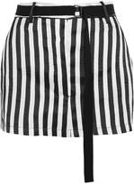 Ann Demeulemeester Striped Satin-twill Mini Skirt - Black