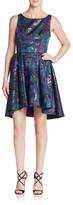 ABS by Allen Schwartz Floral Jacquard Cutout A-Line Dress