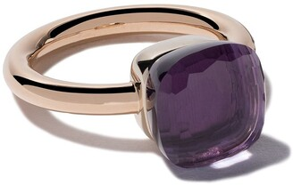 Pomellato 18kt rose & white gold Nudo amethyst ring