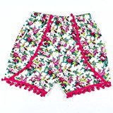 Hot Baby Shorts! AMA(TM) Toddler Infant Baby Girls Summer Tassels Shorts Floral Pants (2T, Hot Pink)