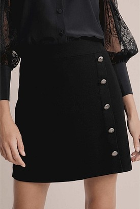 Witchery Button Knit Skirt