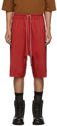 Rick Owens Red Basket Swinger Shorts