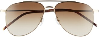 Saint Laurent 57mm Aviator Sunglasses