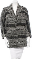 Alice + Olivia Patterned Snap Front Cardigan