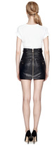 Balmain M'O Exclusive: Quilted Leather Mini Skirt