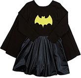 Siaomimi Stretch-Cotton Jersey Superhero Costume-BLACK