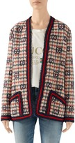 Gucci GG Fancy Check Wool Blend Tweed Jacket