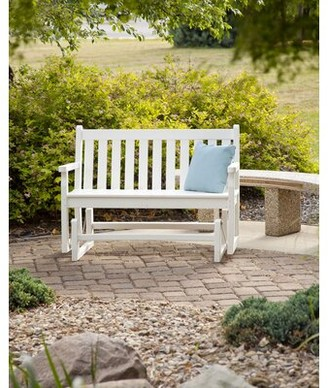 Polywood Traditional Garden Plastic Glider Bench Color: White