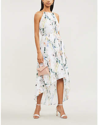 Ted Baker Valetia Elegance-Print Pleated Devoré Dress