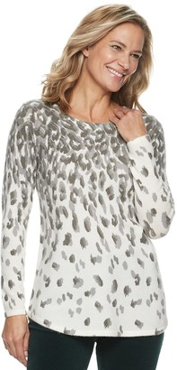 Croft & Barrow Petite Patterned Pullover Sweater