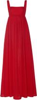 Emilia Wickstead Evelina Shirred Cupro Maxi Dress