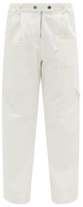 Sea Mara High-rise Cotton-twill Trousers - White
