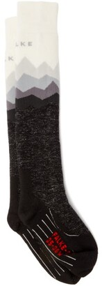 Falke Sk2 Mountain Ski Socks - Womens - Grey White
