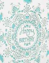 Paperchase Birds Pattern Happy Birthday Card