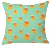 "DENY Designs Allyson Johnson Candy Corn Blue Throw Pillow Mint (20"" x 20"