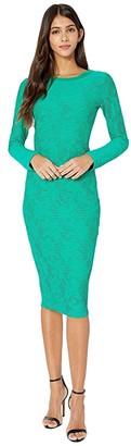 Fuzzi Long Sleeve Knee Length Lace Dress