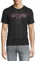 John Varvatos Van Halen Short-Sleeve Graphic Burnout T-Shirt, Black