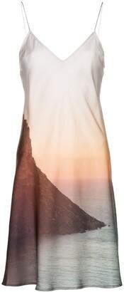 Esteban Cortazar sunset print slip dress